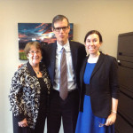 Sheila with Senator William Brownsberger and Ann Landry