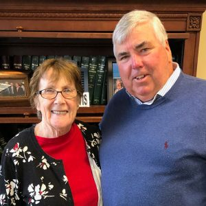 Sheila Wilson with D.A. Michael Morrissey