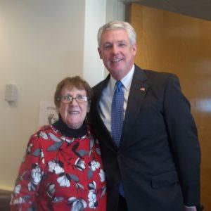 Sheila Wilson and MA Senator John Keenan