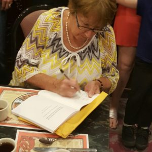In Fitchburg, MA, signing my book