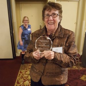 Sheila Wilson receives ENA's Behind the Scenes award