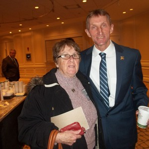 Sheila Wilson with Boston Police Commissioner William Evans